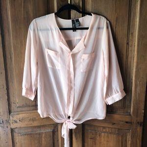 Fun and Flirt pink blouse